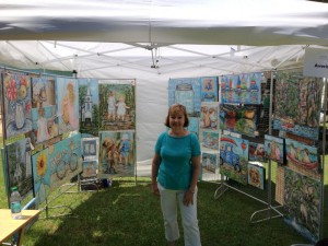 My Tent at Art on the Lake
